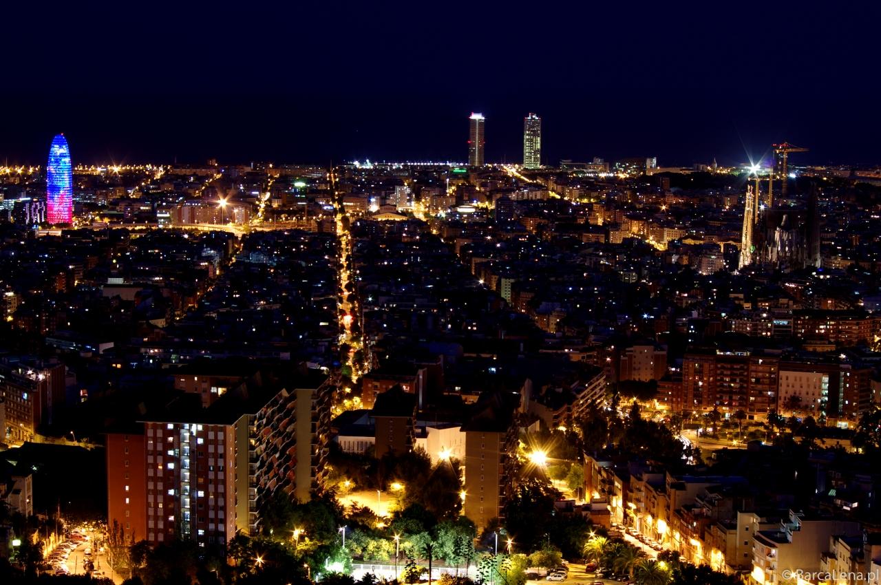 Panorama Barcelony z bunkrów Carmel